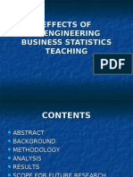 Effects of Re Engineering Business Statistics Teaching