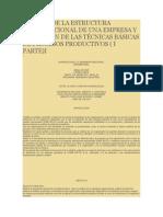 ANÁLISIS DE LA ESTRUCTURA ORGANIZACIONAL DE UNA EMPRESA Y APLICACIÓN DE LAS TÉCNICAS BÁSICAS DE PROCESOS PRODUCTIVOS