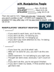 Difficult People Part 3 - Handout