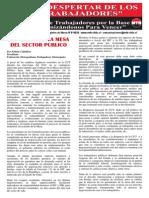 Los Vicios de la Mesa del Sector Público - El Despertar de los Trabajadores