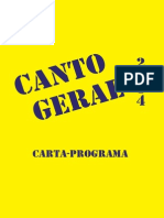 Carta Programa Canto Geral 2014