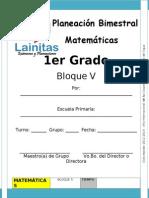 1er Grado - Bloque 5 - Matemáticas