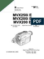Canon Mvx250i Mvx200i e Sm