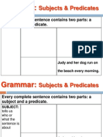 grammar subjects predicates and subject verb agreement