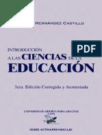 Angel Hernandez Castillo - Introduccion a Las Ciencias de La Educacion