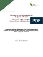 LINEAMIENTOS GENERALES PARA LA ORGANIZACION Y EL FUNC DE LA ESC SEC 2013 - versión final