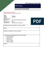 task sheet e portfolio