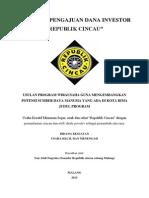 Proposal Pengajuan Dana Investor Rc Frencise