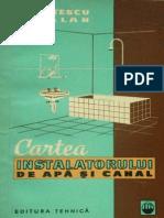Cartea Instalatorului de Apa Si Canal