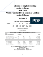 Index for The Patterns of English Spelling Volume 5