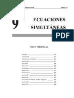 9 ecuaciones simultaneas