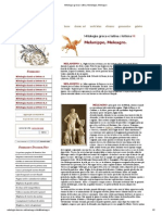 Mitologia Greca e Latina, Melanippo, Meleagro