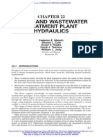 Chapter 22 - Water and Wastewater Treatment Plant Hydraulics