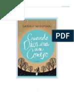 Cuando Dios era un conejo (Sarah Winman)