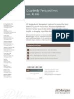 JP Morgan Funds Management, Quarterly Perspectives Asia, 4Q 2013. Sep 30, 2013.