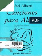 Rafael Alberti, Canciones para Altair
