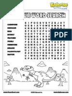 Dinosaur Wordsearch