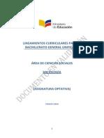 Lineamientos Curriculares Sociologia 3BGU