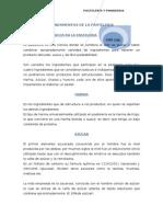 Funciones de Los Ingredientes en La Pasteleria