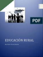 EDUCACIÓN RURAL