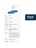 Samsung Overview