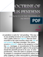 Doctrine of Lis Pendens
