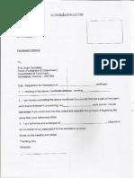 HRD Attestation Request Letter