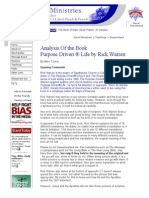 Analysis of the Book Purpose Driven Life by Rick Warren - Moriel Ministries