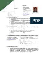 Bio Data BJT 2013