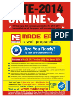 Gate 2014 Online Test Series Poster