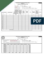 Form 6A (PF Return Contribution)