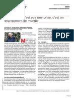 2012 - SERRES Michel- Un Changement de Monde