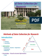 Methods of Data Collection for Research PPT