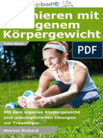 Trainieren mit eigenem Körpergewicht - Leseprobe