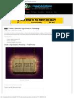 Create a Beautiful Sign Board in Photoshop _ GeoWorldOnline (GWO) Computing