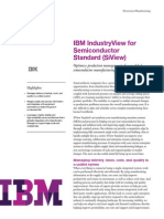 IBM IndustryView for Semiconductor Standard (SiView)