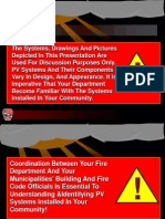Solar Energy and the Fire Service