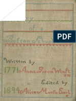 Diary of Anna Winslow, Boston Schoolgirl of 1771