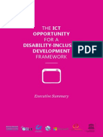 Executive Summary_ICT Opportunity for a Disability_Inclusive Development Framework