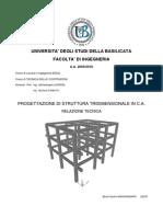 Relazione tecnica progetto di un telaio in c.a.