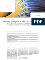 Leadership, Intangibles & Talent Q2 2009 - Four Groups