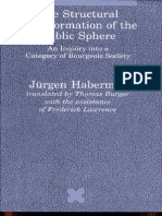 Jűrgen Habermas The Structural Transformation of the Public Sphere    1989