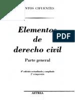 Elementos de Derecho Civil - Santos Cifuentes