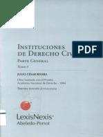Rivera Julio - Instituciones de Derecho Civil - Parte General - ToMO I