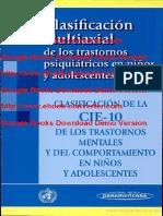 psicologia - Clasificación multiaxial de los trastornos psiquiátricos en niños y Adolescentes Escrito por Monica Magarios