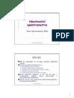 Hmotnostni spektrometrie
