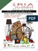 Cartel y programa Alta resolución Expo-Villanueva.2013
