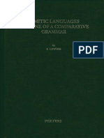 23 Semitic Languages Outline of a Comparative Grammar