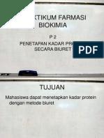 P4-Penetapan Kadar Protein Secara Biuret