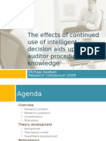 The effects of continued use of intelligent decision aids upon auditor procedural knowledge